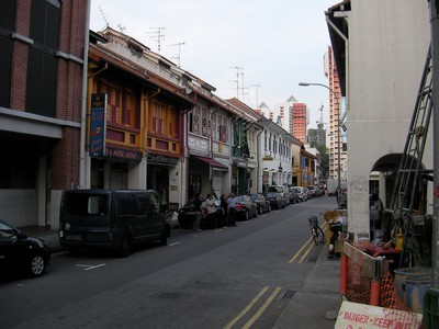 Perak Street where our hotel is